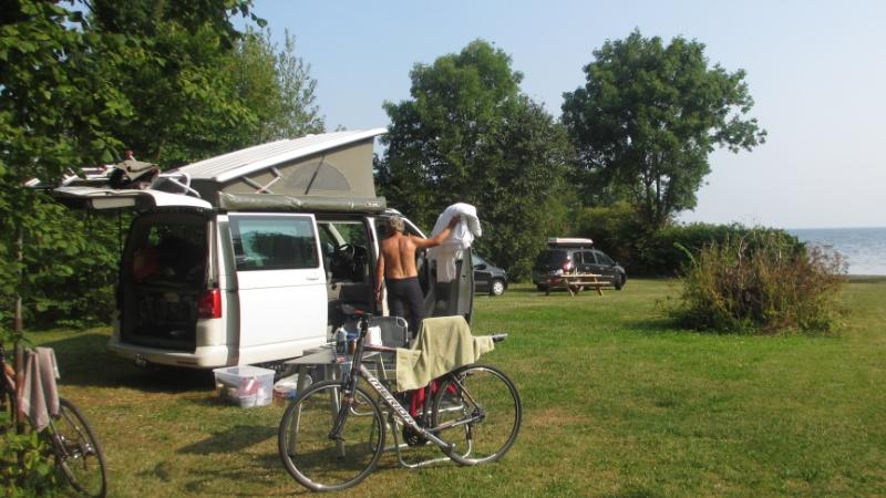Autocamper på camping Mønbroen