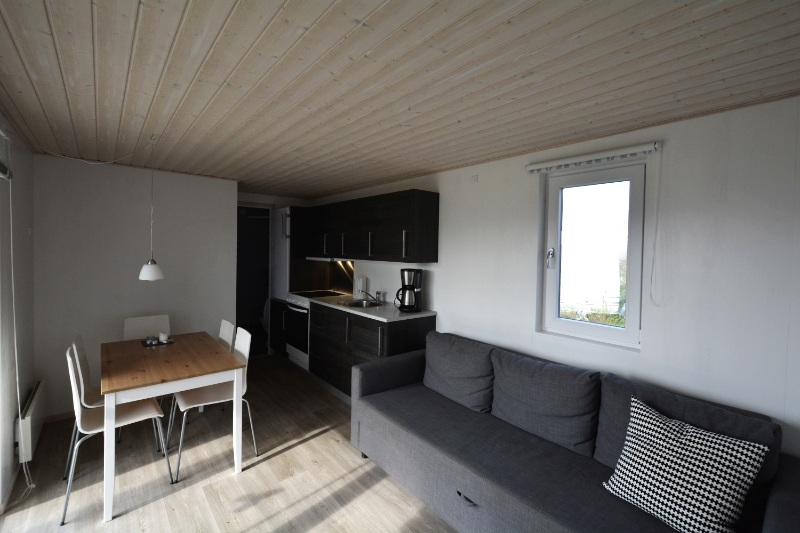 stue køkken i hytte
