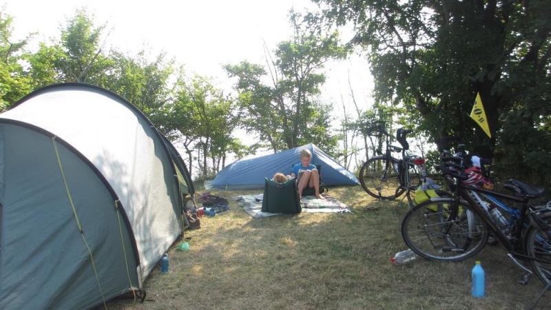 Telt på teltplads camping møn mømbroen