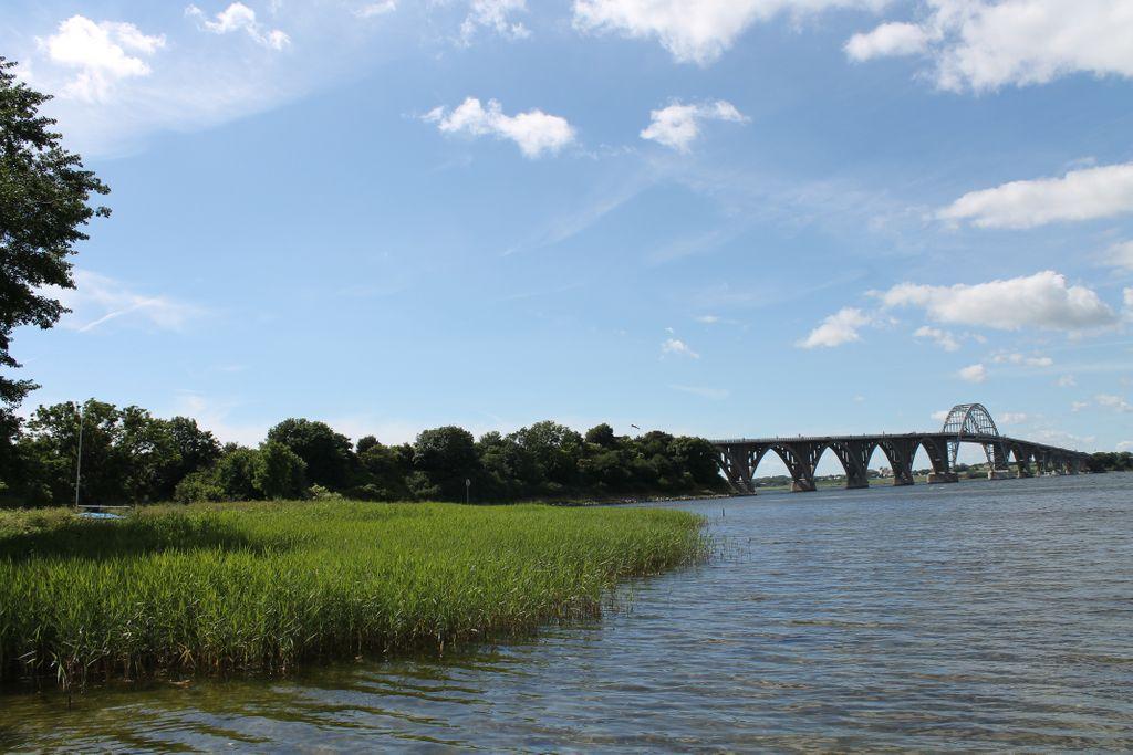 Dæmning til Mønbroen anlagt fra 1937